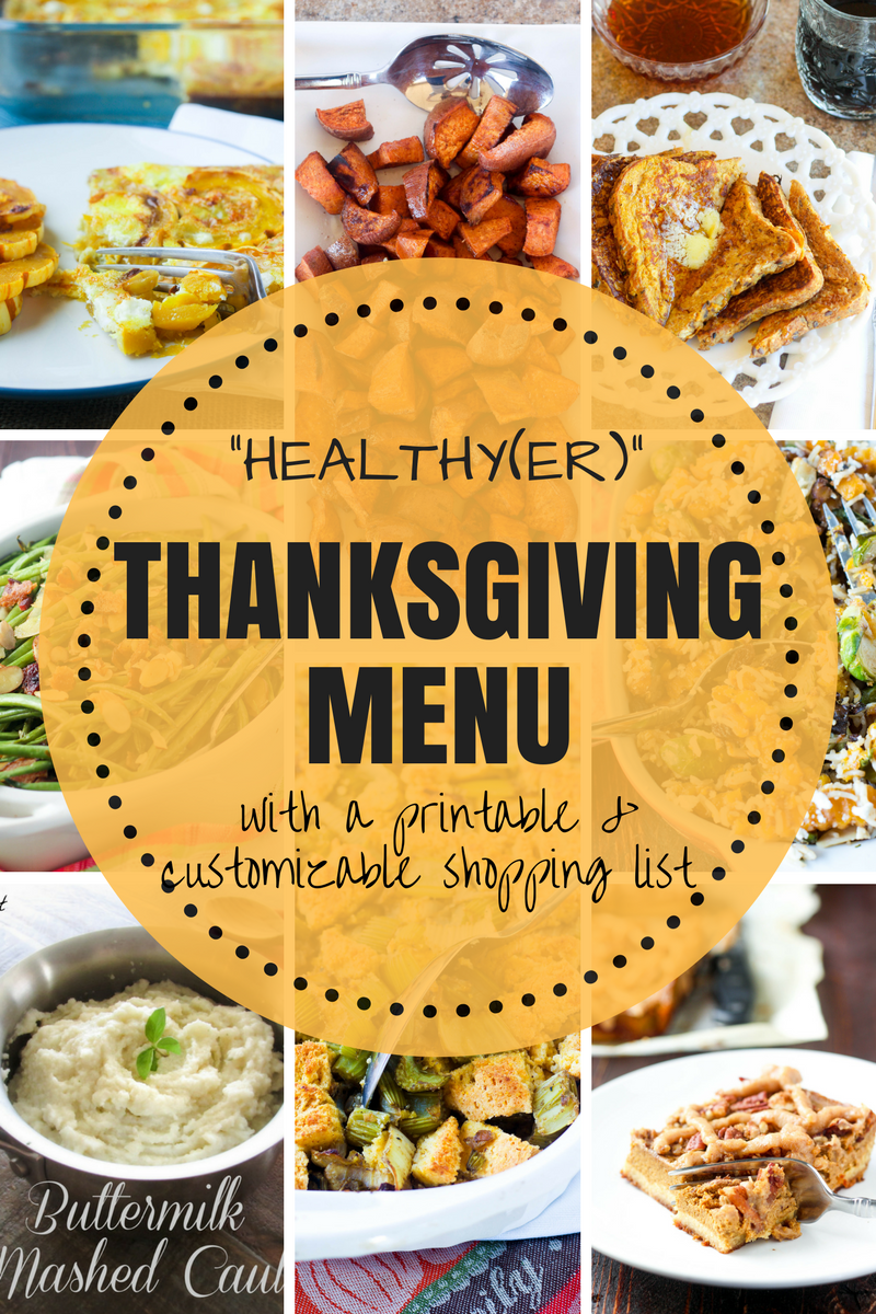 Healthy Thanksgiving Menu Gluten free thanksgiving menu