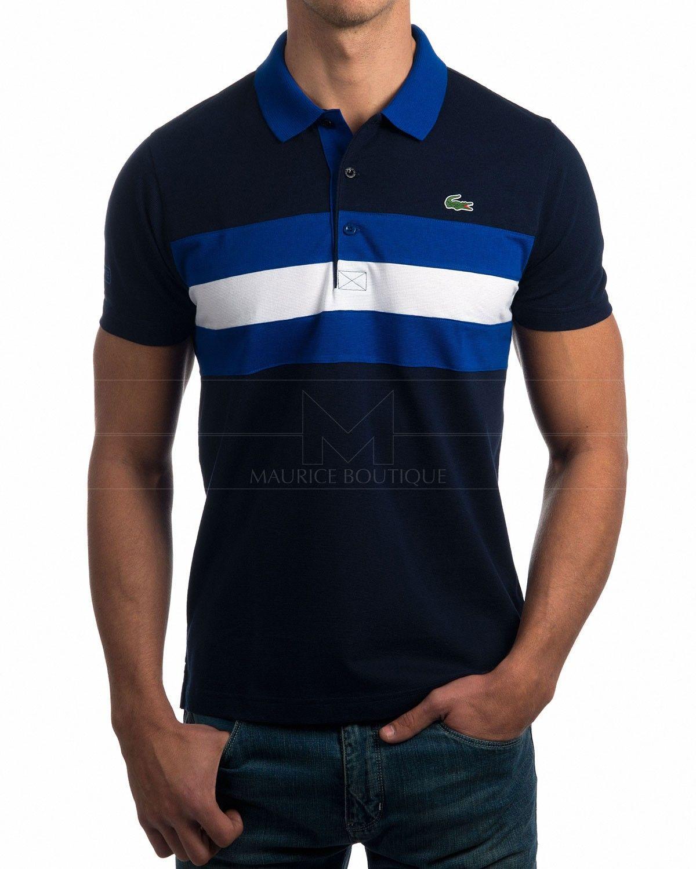 Polo Lacoste Marino y Azul Royal Polo Lacoste algodón 100% Polo Lacoste  logo engomado · c8bcf14b25