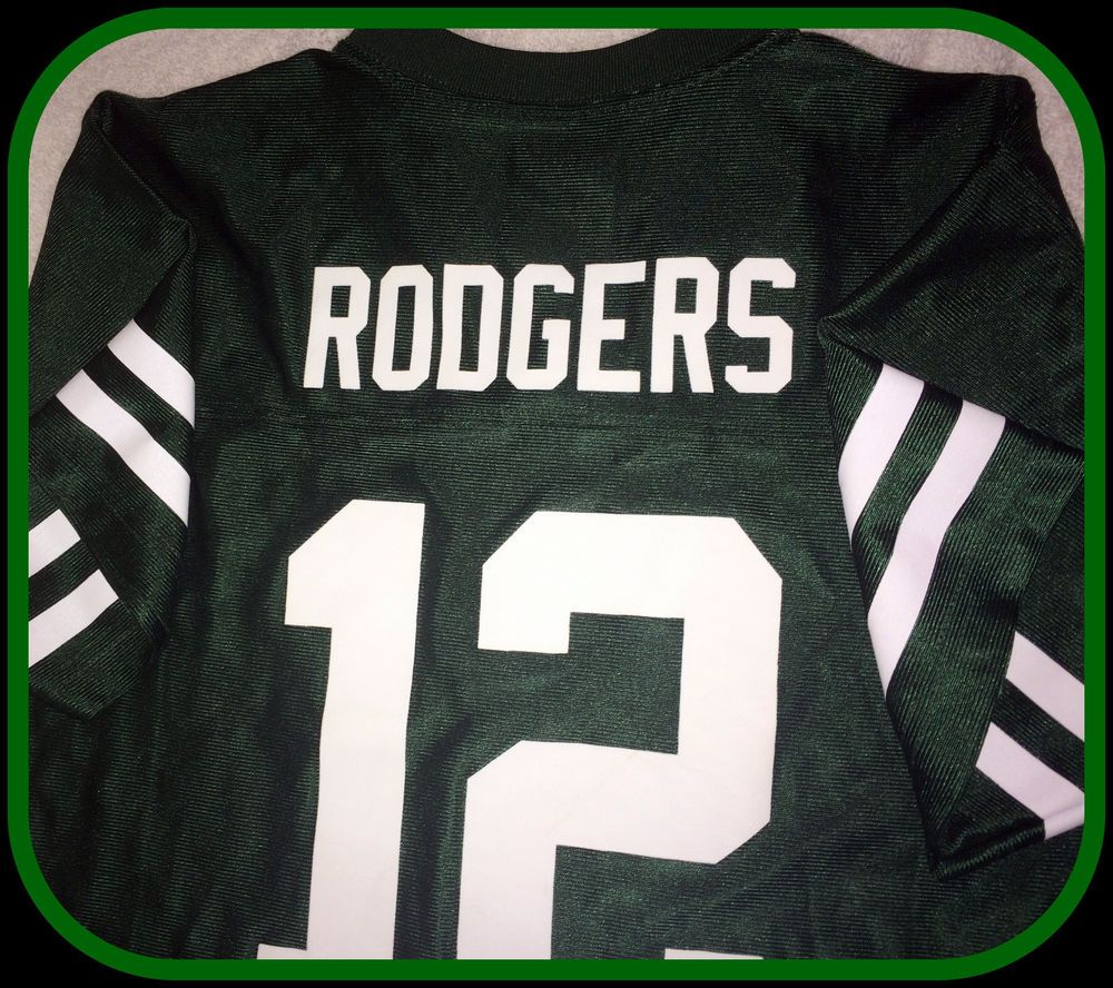 Aaron Rodgers Green Bay Packer Team Apparel Youth Medium 10 12 Replica Jersey Teamapparel Greenbaypack Team Apparel Green Bay Packers Team Green Bay Packers