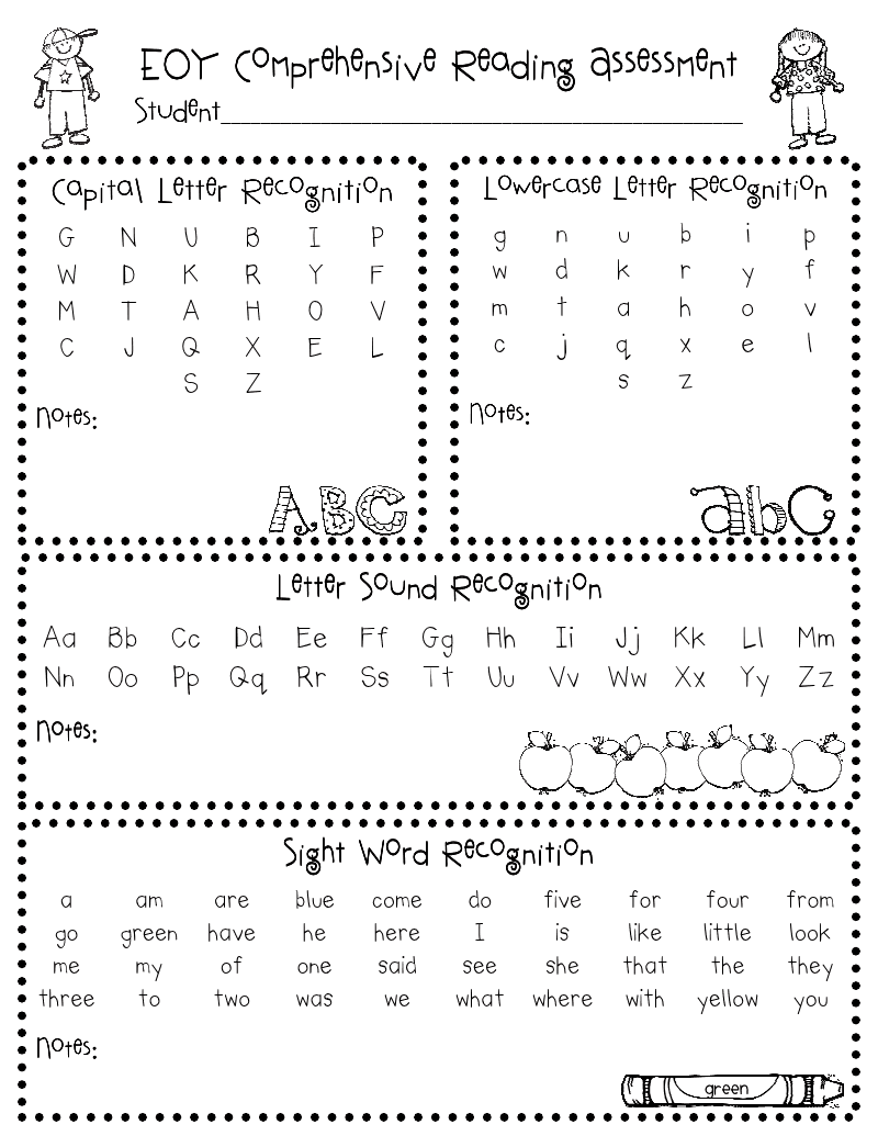 It's just a photo of Slobbery Kindergarten Readiness Test Free Printable