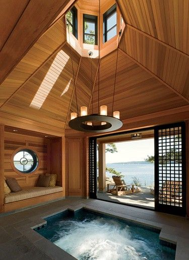 Pin By Desliana Kurniawan On Take Me Away Indoor Hot Tub Indoor Jacuzzi House