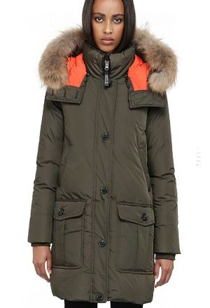 Mackage CHASKA-F4 Winter Parka Down Coat long Down Jackets women WITH for  HOOD Army