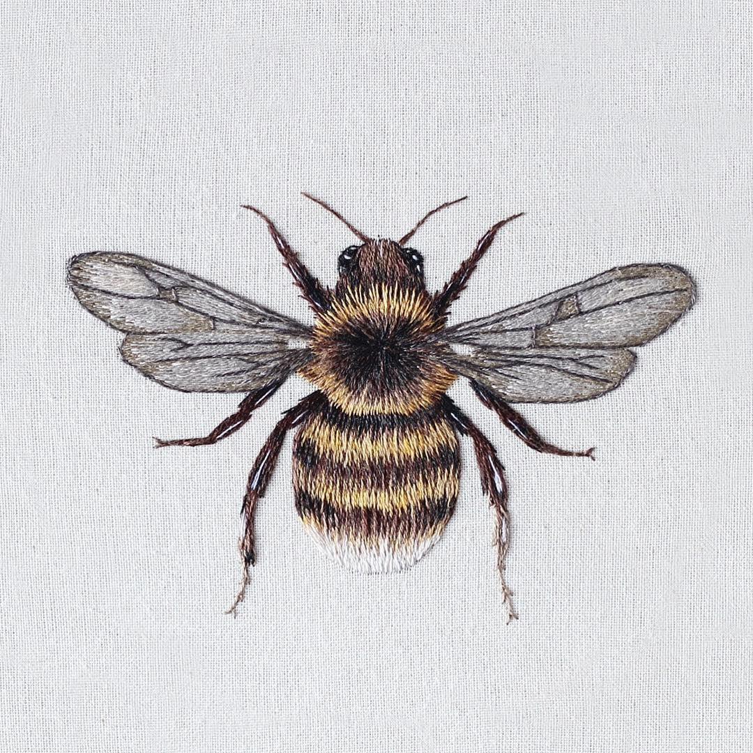 embroidered bee by emillie ferris | Props Project | Pinterest ...