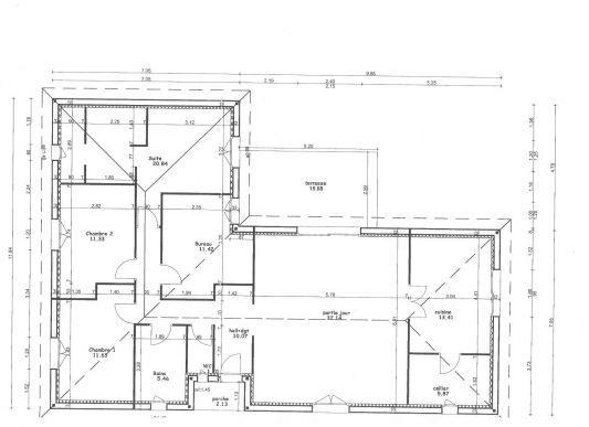 Plan Maison 5 Pieces plan maison Pinterest - faire ses plan de maison gratuit