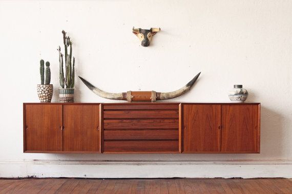 Danish Floating Credenza : Featured shop other times vintage woman cave credenza mid
