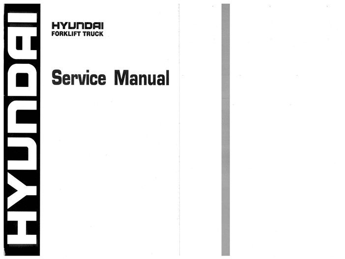 Hyundai ForkLift 110 130 160D-9 Workshop Repair Service