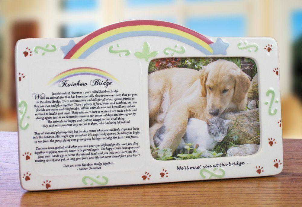 Pet Bereavement Photo Frame Rainbow Bridge Poem * Learn more by ...