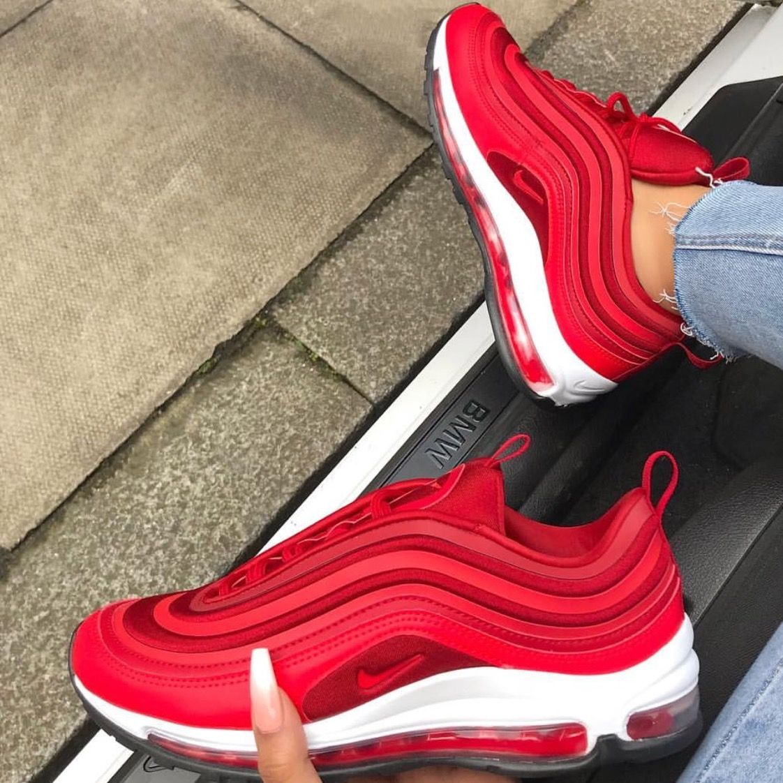 Pin By Jilliiiii On Shoes In 2020 Sneakers Air Max 97 Red Shoes