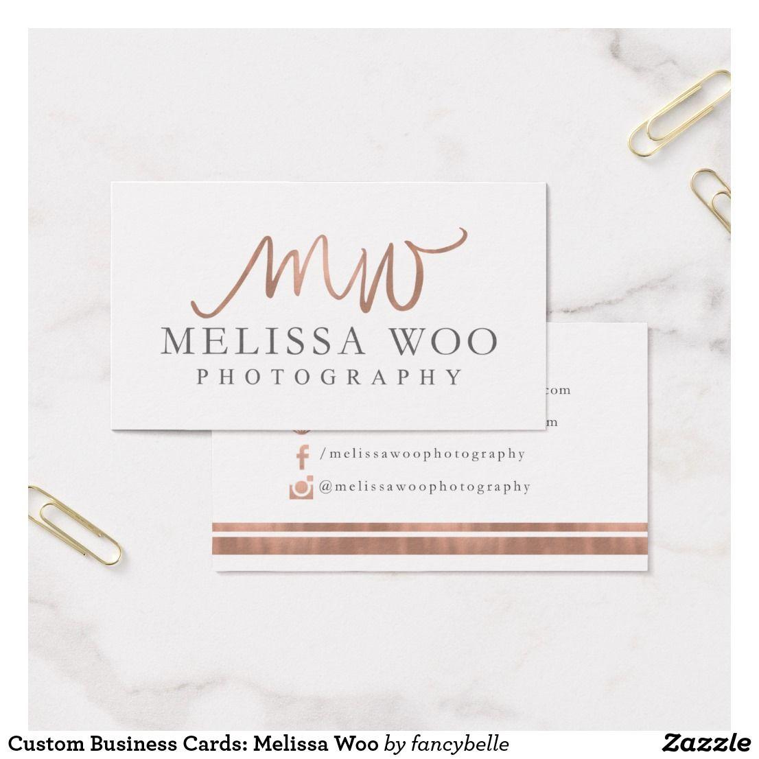 Custom business cards melissa woo business card pinterest custom business cards melissa woo business card colourmoves