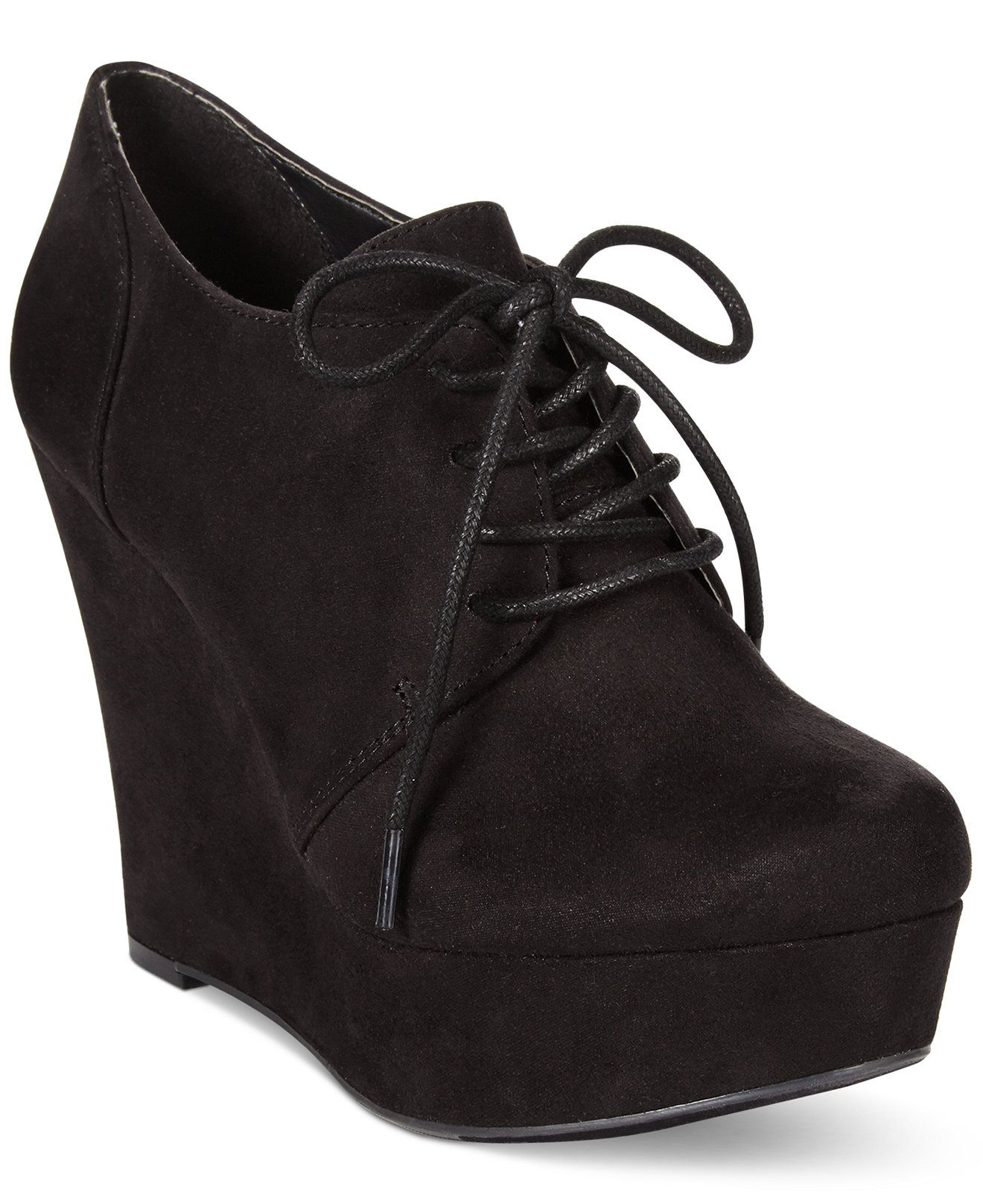 1e250cd1a87 Material Girl Danity Lace Up Platform Wedge Booties