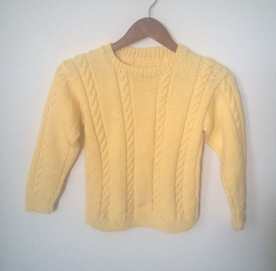 Yellow Cable Knit Sweater Yellow Knit Sweater by creationsforcora, $20.00