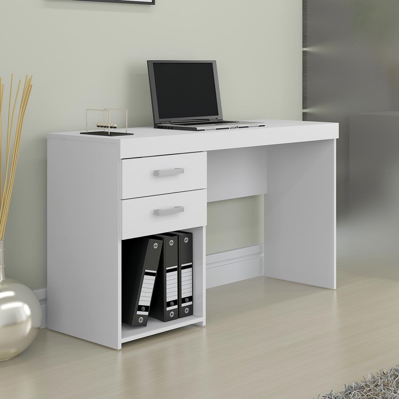 Escrivaninha Mesa Para Computador Com 2 Gavetas Malta Branco