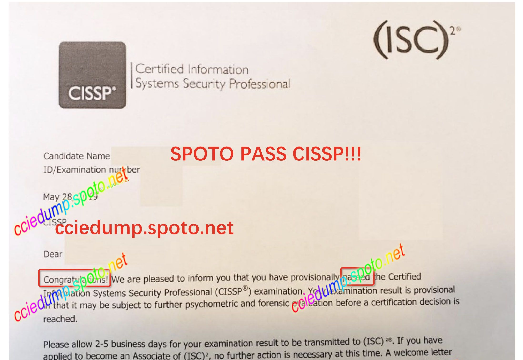 Spoto Cissp Is Stable Stable Professional Fast 100 Pass