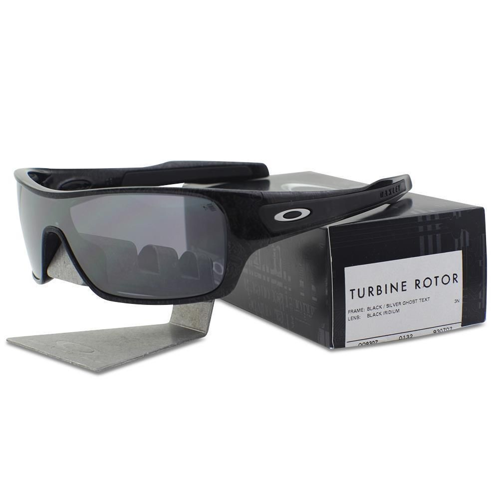 7b32921dd3873 Oakley OO 9307-02 TURBINE ROTOR Black Silver Ghost Text Iridium Mens  Sunglasses  fashion  clothing  shoes  accessories  mensaccessories ...