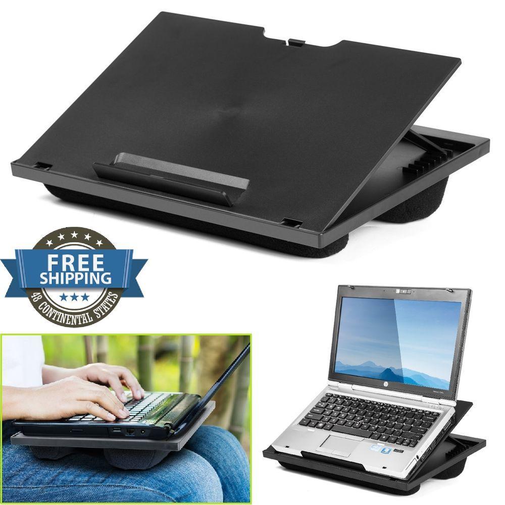 Laptop Desk For Lap 8 Adjustable Angles Dual Bolster Pillows Base