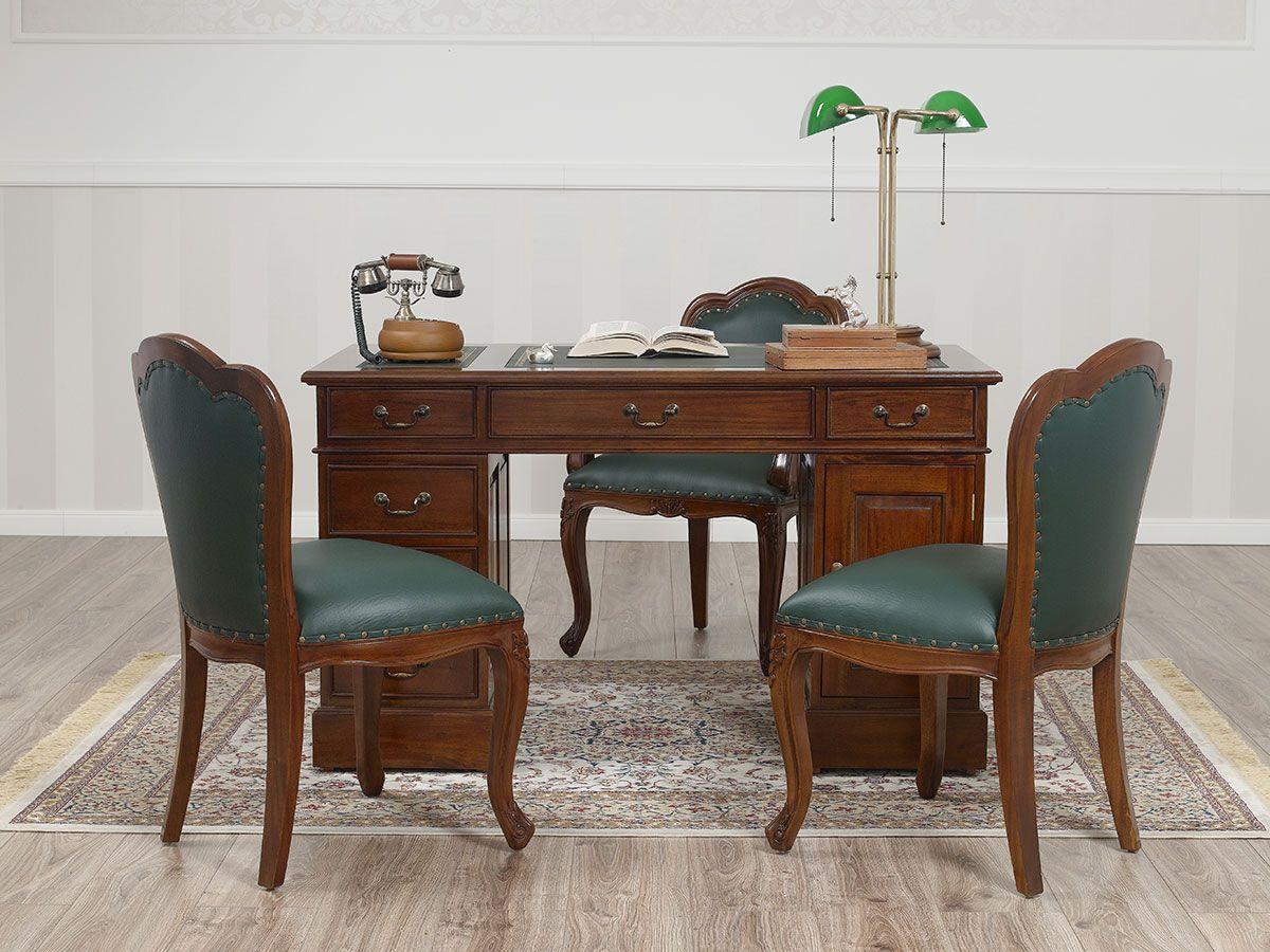 Ufficio Stile Inglese : Ufficio completo in stile inglese in legno massello realizzato