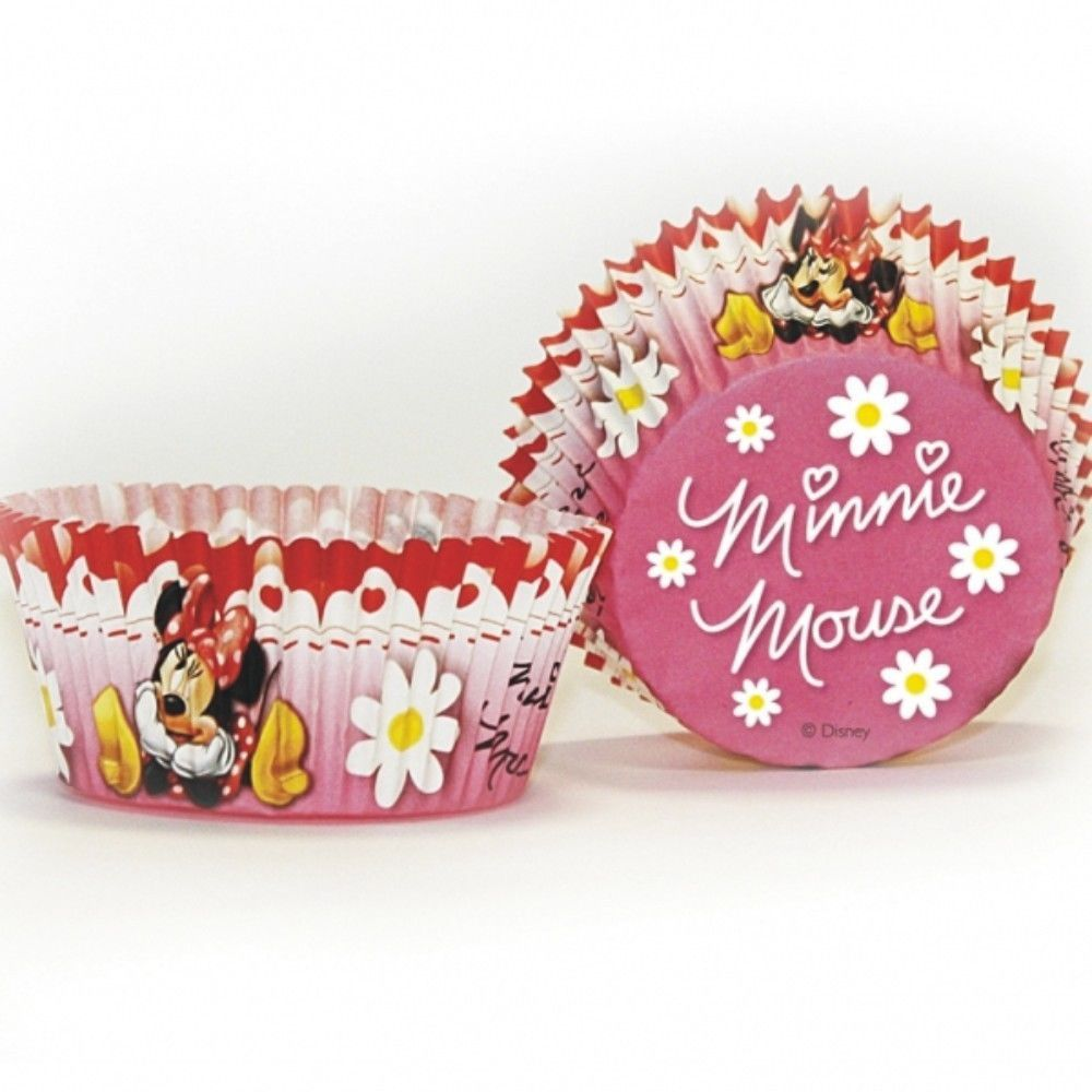 50 Disney Minnie Mouse Red Polka Dots Party Paper Cup Cake Cases #Disney
