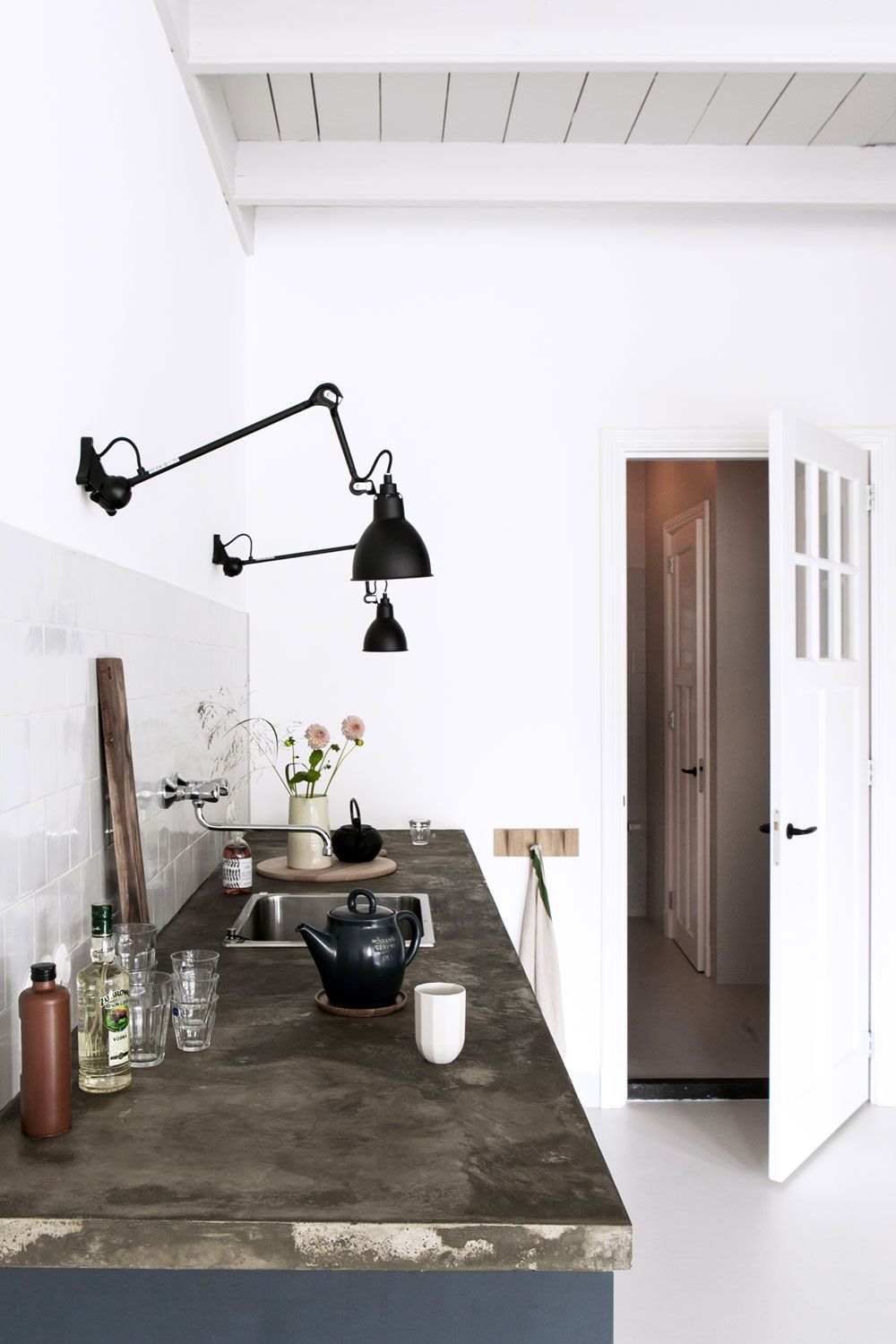Black Wall Lighting Fixtures In Industrial Chic Kitchen Sfgirlbybay Kitchen Wall Lights Kitchen Lighting Design Home Decor Kitchen Wall mounted lights for kitchen