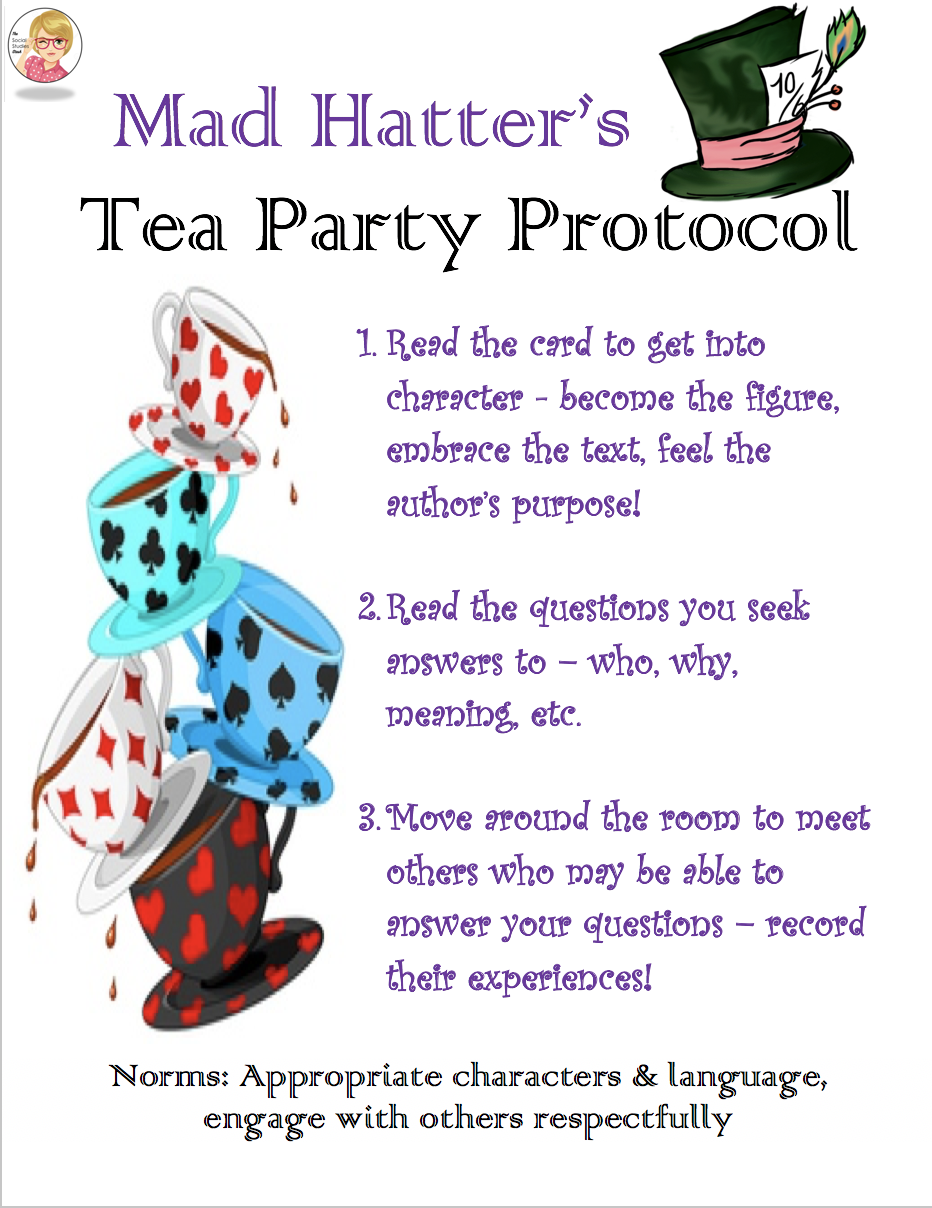 The Mad Hatter S Tea Party Protocol Mad Hatter Tea Party Math Worksheet Mad Hatter Tea [ 1208 x 932 Pixel ]