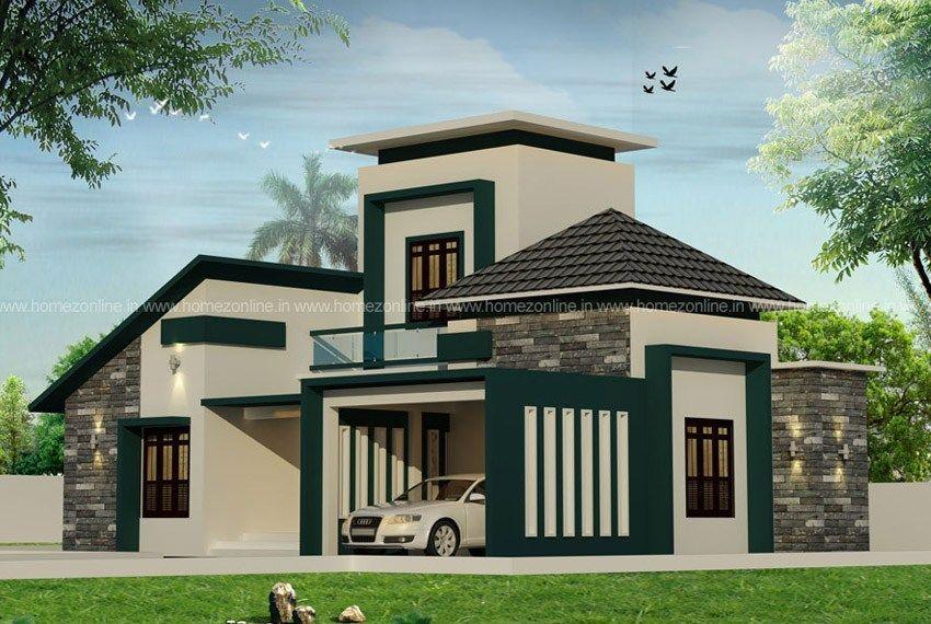Single Floor Elevation On Beautiful Roof Design Modern Roof Design Roof Design Beautiful Roofs