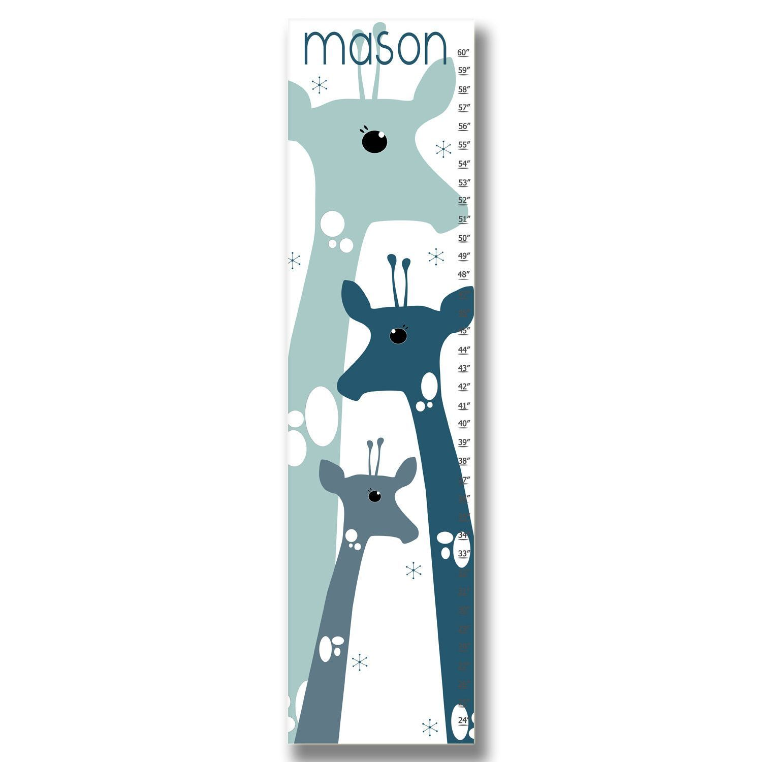 Giraffe personalized growth chart blue personalized growth giraffe personalized growth chart blue geenschuldenfo Choice Image
