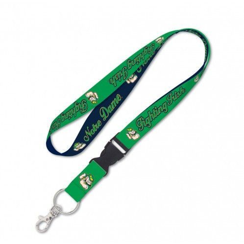 Notre Dame Fighting Irish Lanyard with Detachable Buckle - Leprechaun
