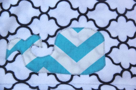 Chevron Stripe Whale Baby Blanket by mylittlemookie on Etsy, $30.00