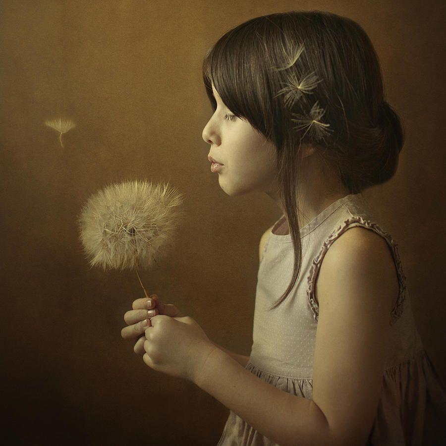 Portrait Photograph - A Dandelion Poem by Svetlana Bekyarova