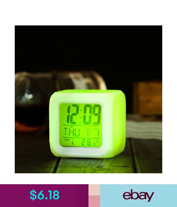 Alarm Clocks Home & Garden | Led alarm clock, Color changing