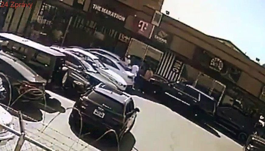 low priced 70344 045d8 just released alternate clearer angle surveillance footage video of Nipsey  Hussle shooting 4-1-18