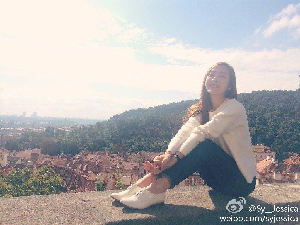 "Jessica's Weibo: ""Prague <3"""