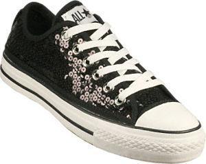 black sparkle converse womens