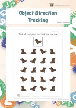 Object Direction Tracking   Worksheets, Students and Figure ground ...