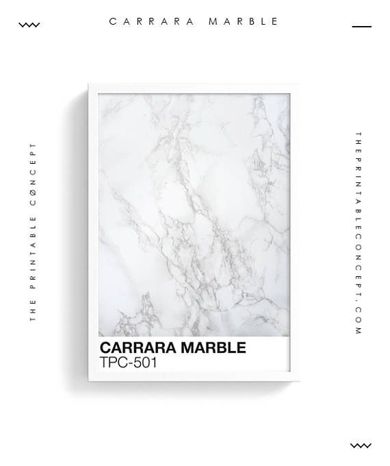 Carrara Marble Printable White And Grey Marble Printable Poster Pantone Color Wall Art Modern Art Print Marble Pantone Poster Minimal Carrara Marble Marble Art Marble Printable