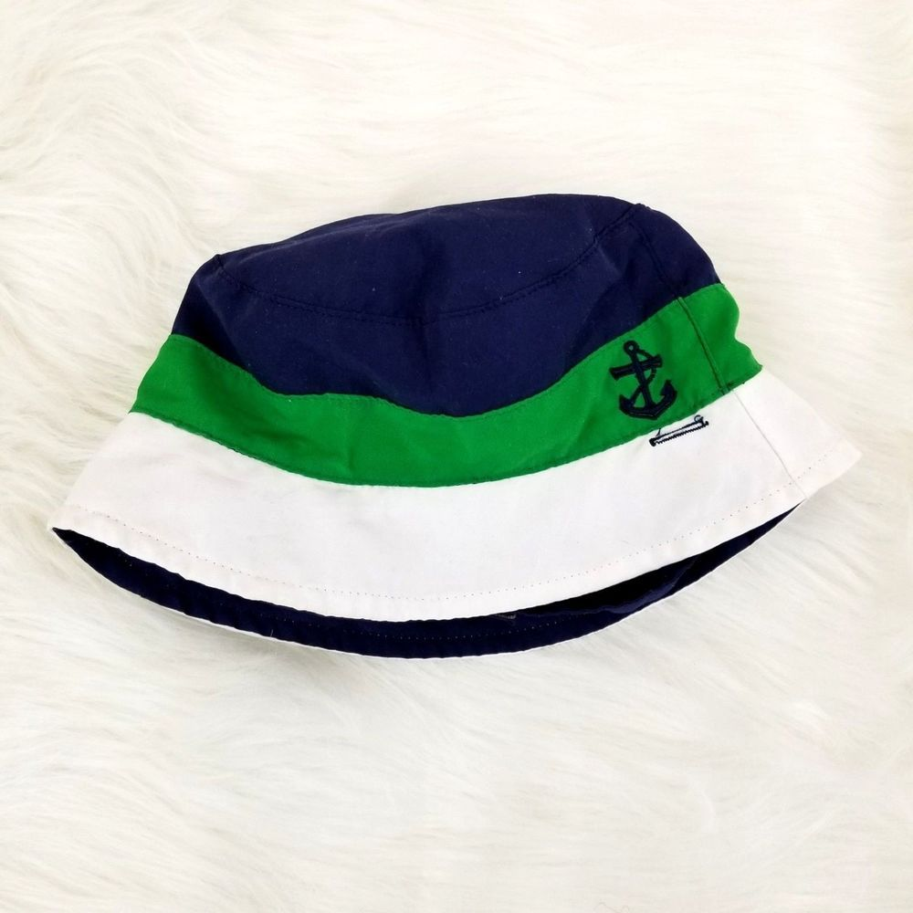 331457d124a Target Boys Bucket Hat One Size Toddler Blue Green White Color Block Anchor  o487  Target  BucketHatFishermansHat