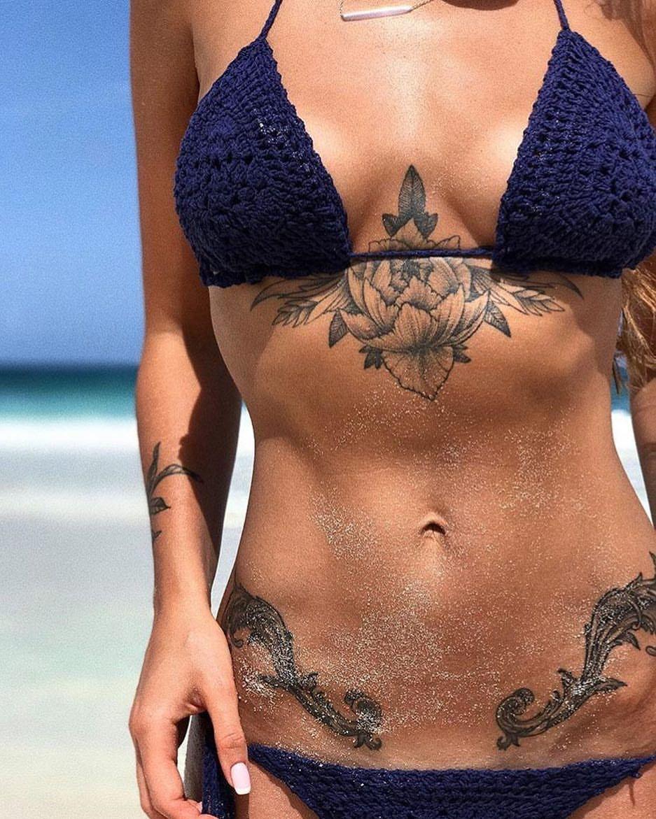 Tattoos on bikini line