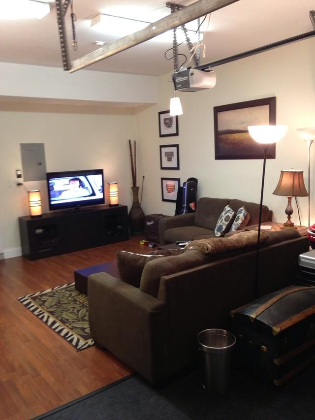 amazing garage living room | How to Transform a Garage Into a Living Space on a Budget ...