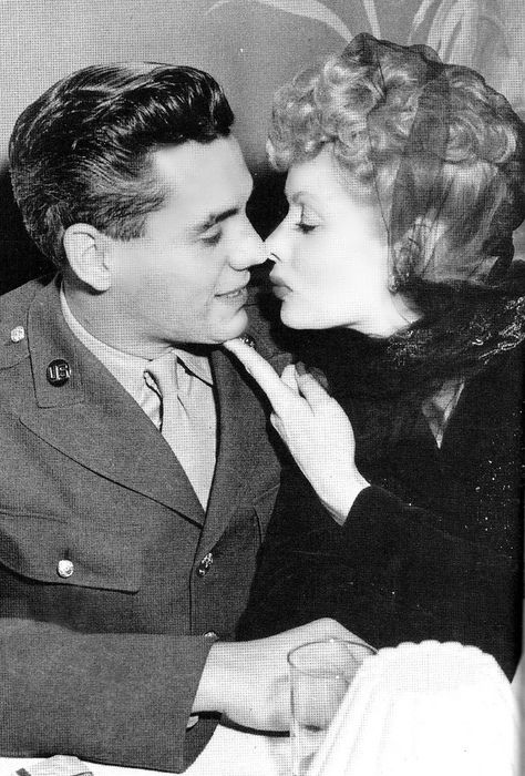 Desi Arnaz and Lucille Ball...the first biracial couple