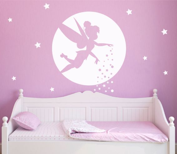 Personalised Princess Portrait Little Girls Room Wall Stickers Vinyl Art Decals