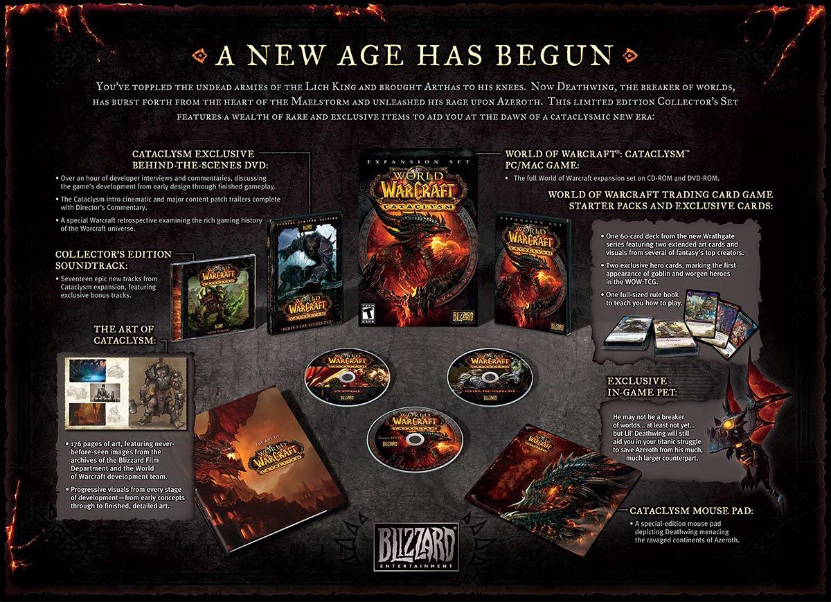 World Of Warcraft Cataclysm Collectors Edition 2 World Of Warcraft World Of Warcraft Cataclysm Warcraft