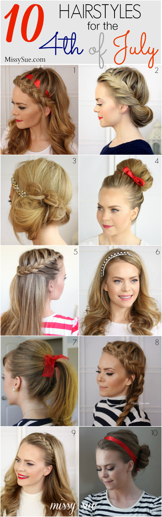 10 Hairstyles For The 4th Of July Hair Styles Long Hair Styles Beautiful Hair