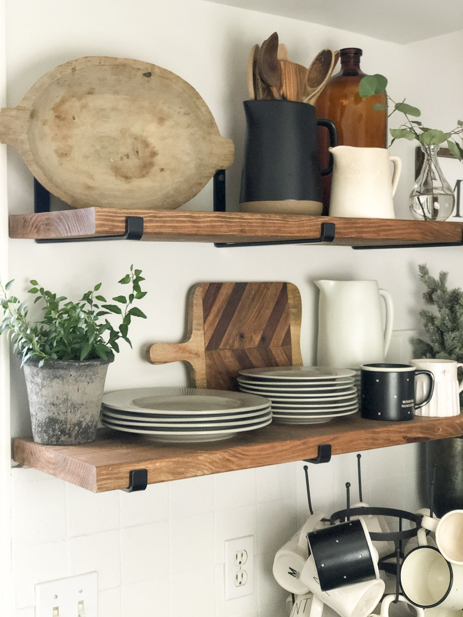 Photo of Kitchen Open Shelving | Winter Decor