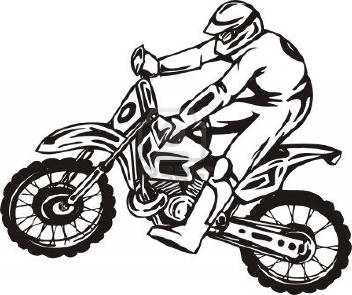 Dirt Bike Rider Jump High Coloring Page Coloring Sun Coloring