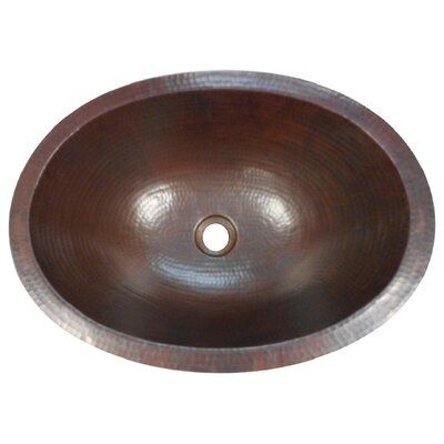 Simplycopper Hand Hammered Metal Oval Dual Mount Bathroom