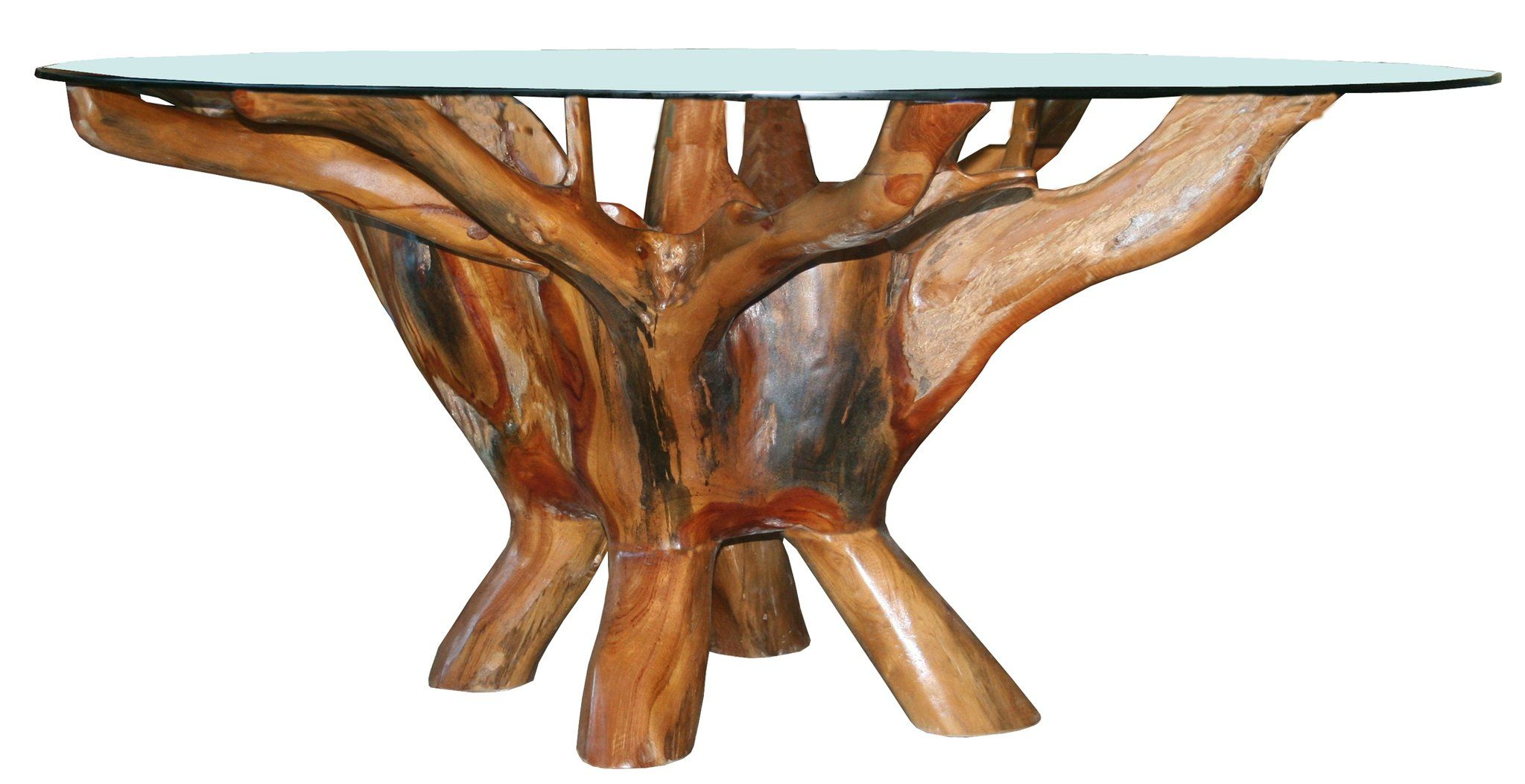 Teak Wood Root Coffee Table Including 43 Inch Glass Top In 2019 Teak Coffee Table Coffee Table Wayfair Table
