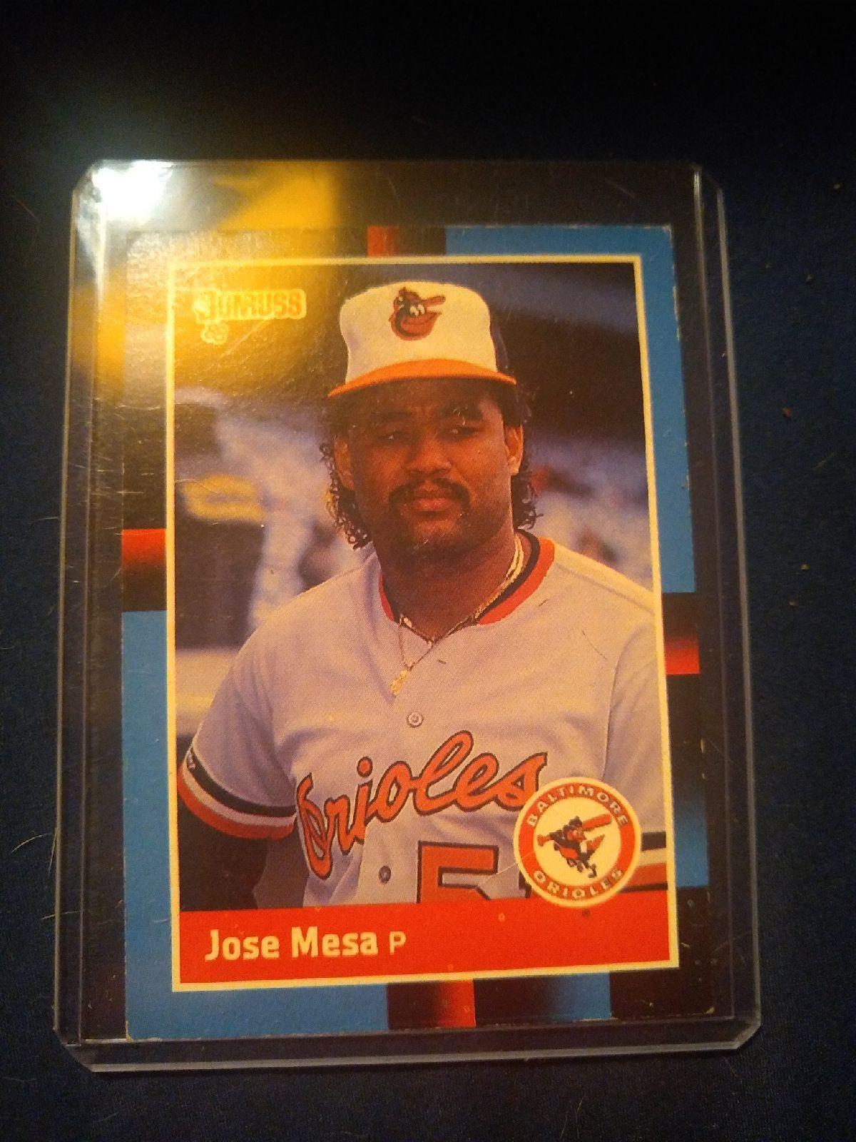 1988 donruss jose mesa send offers baseball cards