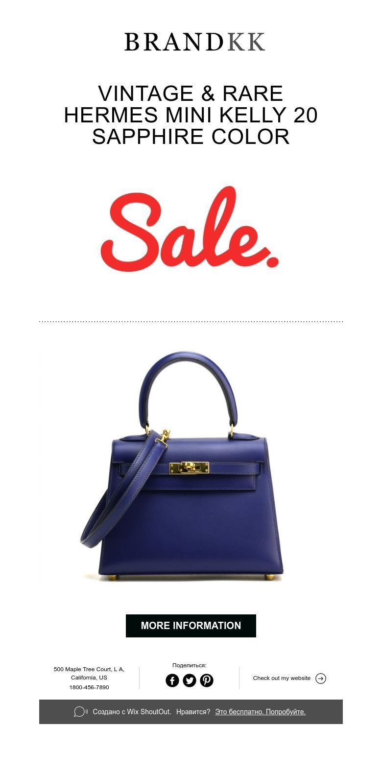 9d50b733ed71e ... promo code for 11000 vintage rare hermes mini kelly 20 sapphire color  59c91 b9bfa
