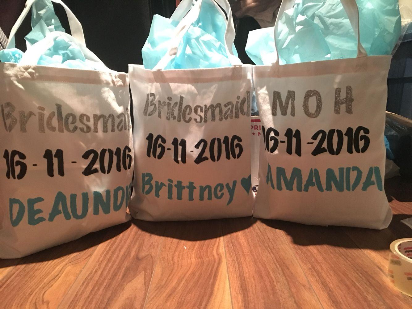 Bridesmaid gift bags bridesmaid gifts gift bags
