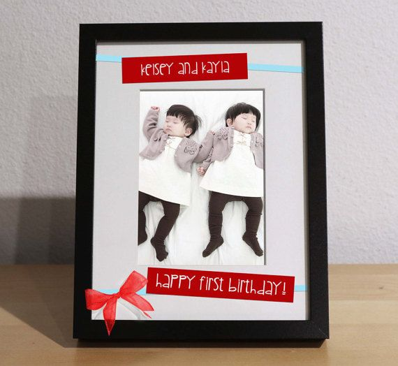 Baby Twins Gift TWINS FIRST BIRTHDAY By KimKimDesigns On Etsy