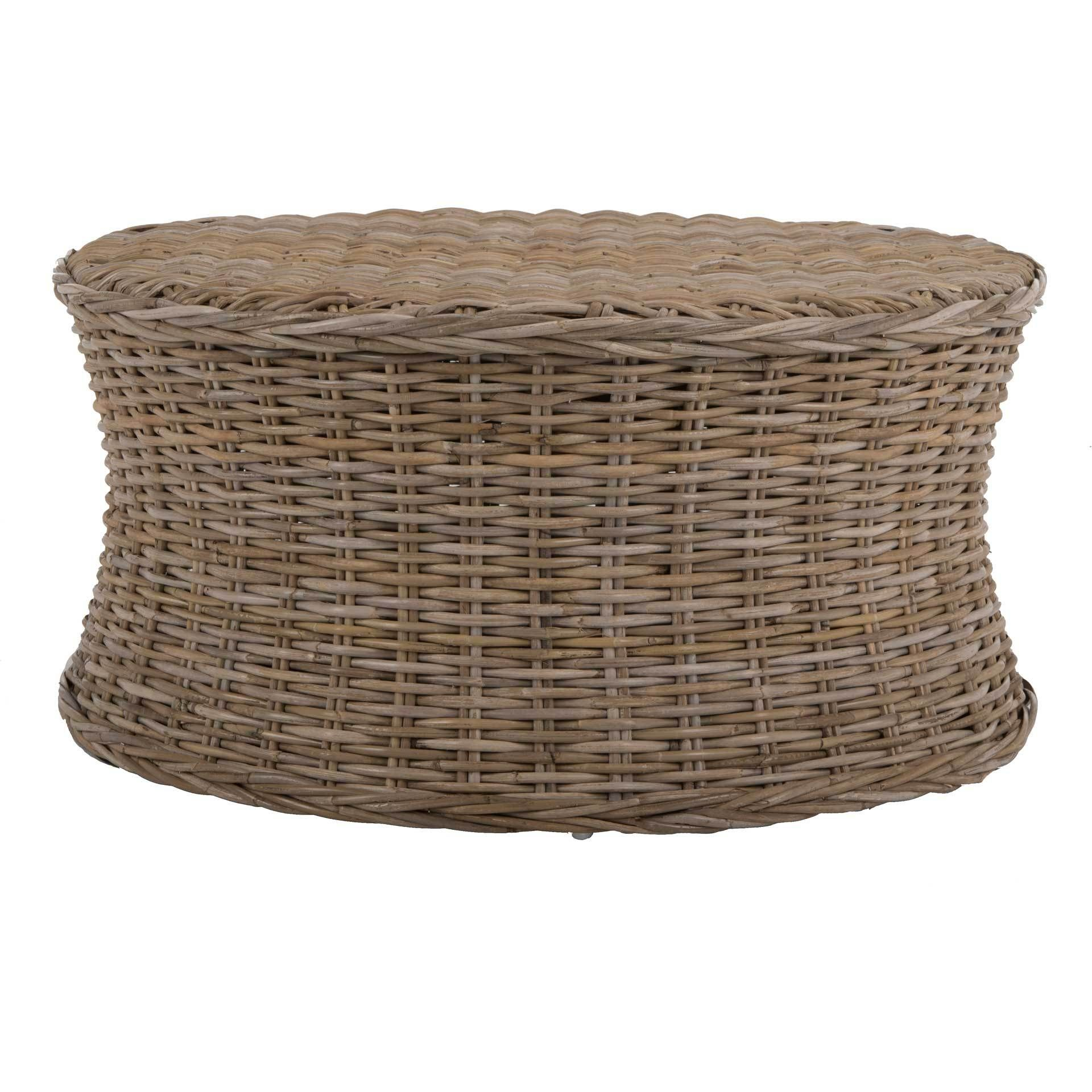 Russell Coffee Table Natural Wicker Ottoman Wicker Coffee Table